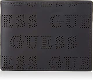BILLFORD RFID Protection 31GO130015 BLACK//RED Guess LEATHER Security WALLET