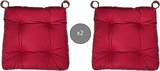 Abeil - Cojines para Silla (2 Unidades), Color Rojo