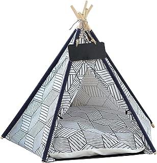 Indisk tält husdjur tipi hus indisk tält trä linne sällskapsdjur katt bo säng indisk tält husdjur