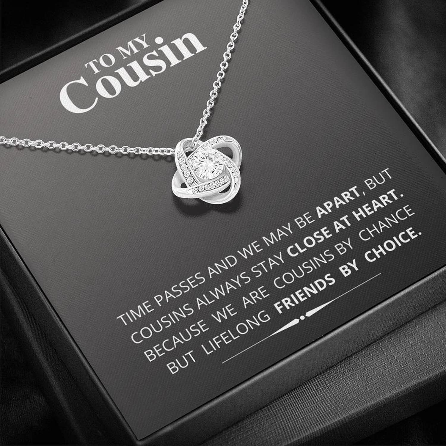 To My Cousin Popular brand - Love Knot Birth Year-end annual account Necklace Jewelry Friendship for