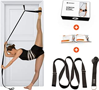 Stretch Strap with Door Anchor – Improve Leg Stretching with Door Flexibility Trainer - Perfect Home Equipment for Ballet,...