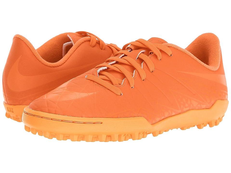 Nike Kids Jr Hypervenom Phelon II TF Soccer (Toddler/Little Kid/Big Kid) (Bright Crimson/Hyper Orange/Total Crimson) Kids Shoes