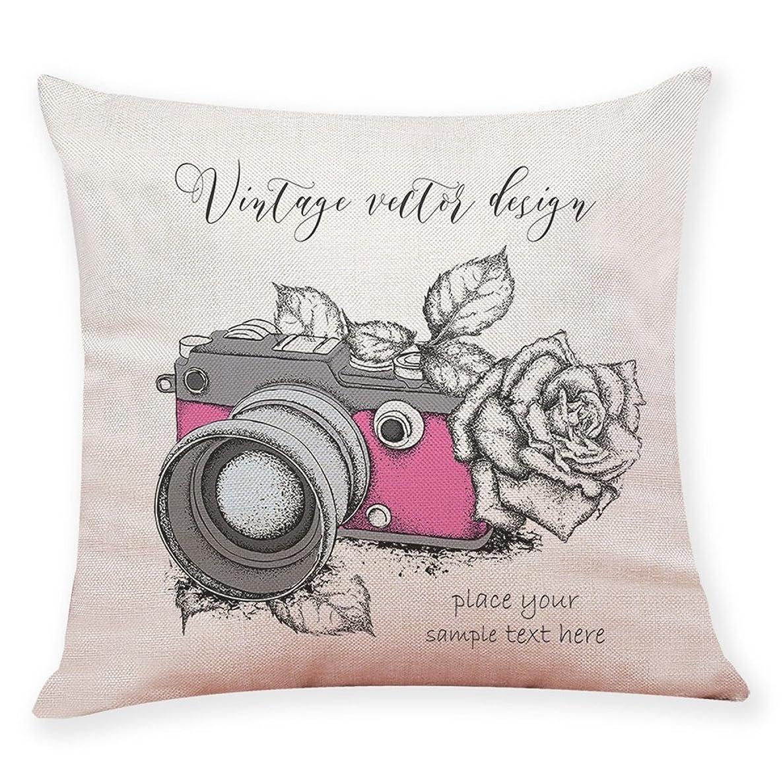 FEDULK Home Decor Cushion Cover Camera Landscape Throw Pillow Covers Sofa Car Pillowcase