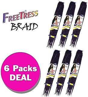 LONG LARGE BOX BRAID (6-Pack, 2) - Freetress Crochet & Lactch Bulk Braiding Hair
