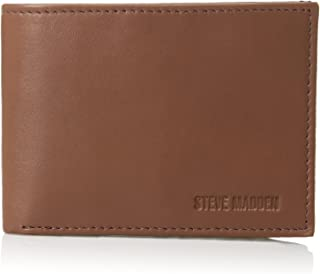 Steve madden Leather Rfid Blocking Wallet With Extra Capacity Id Window