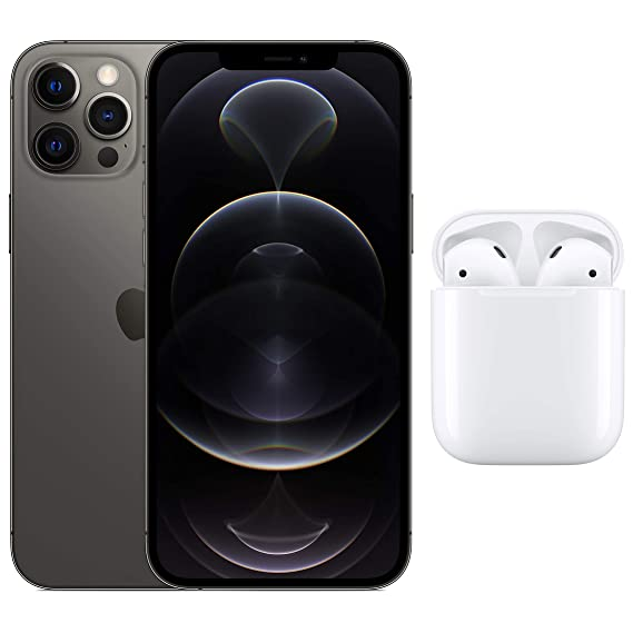 New Apple iPhone 12 Pro Max (256GB) - Graphite with AirPods with Charging Case