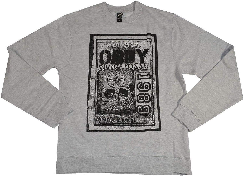 Obey Savage Posse Flyer Heather Gray Crewneck San Diego Arlington Mall Mall Men's Sweatshirt