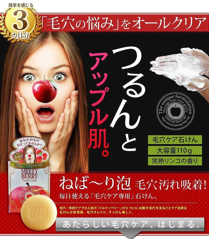 主流強化顔料メルティベリーアップルソープ 2個セット(毛穴対策用洗顔石鹸)