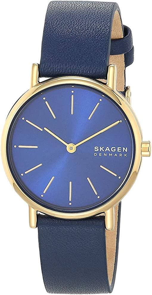 SKW2867 Gold Blue Leather
