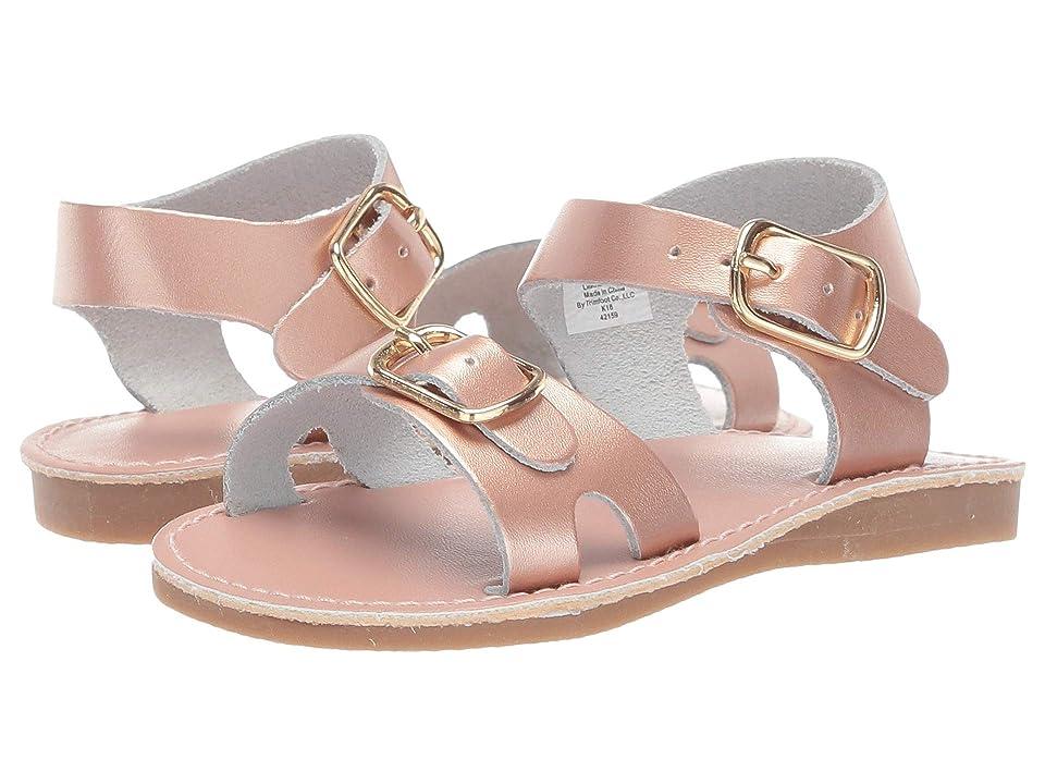 Baby Deer Classic Leather Sandal Walk (Infant/Toddler) (Rose Gold) Girls Shoes