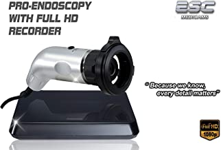 Esc Endoscopy Camera Hd Rigid Endocam with Full Hd 1080P Recorder with Hdmi Output w/Coupler Adapter 1.2 Megapixel Sensor Ent3000UR
