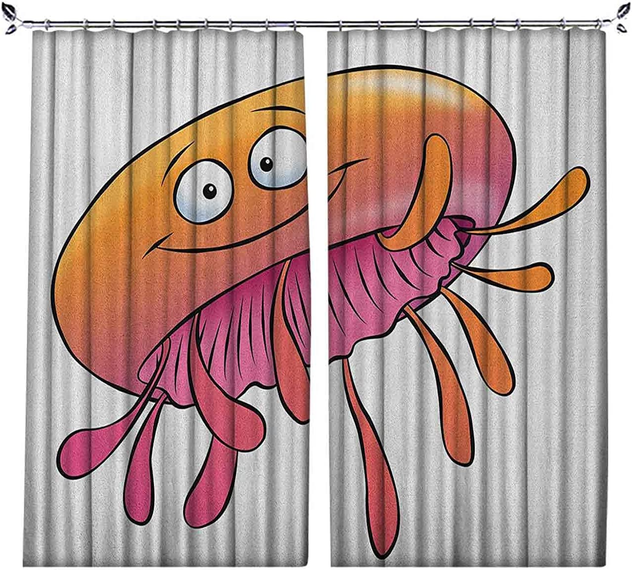 90% Outlet ☆ Free Shipping Blackout Orange and Pink Style Recommended Curtains Funny Jelly Cartoon