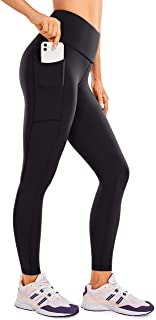 CRZ YOGA Luxury Naked Feeling Women's High Waist Yoga Pants Athletic Tights Workout Leggings with Pockets -25 Inches