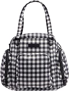 JuJuBe Be Supplied Travel Breast Pump Messenger/Tote Bag, Onyx Collection - Gingham Style
