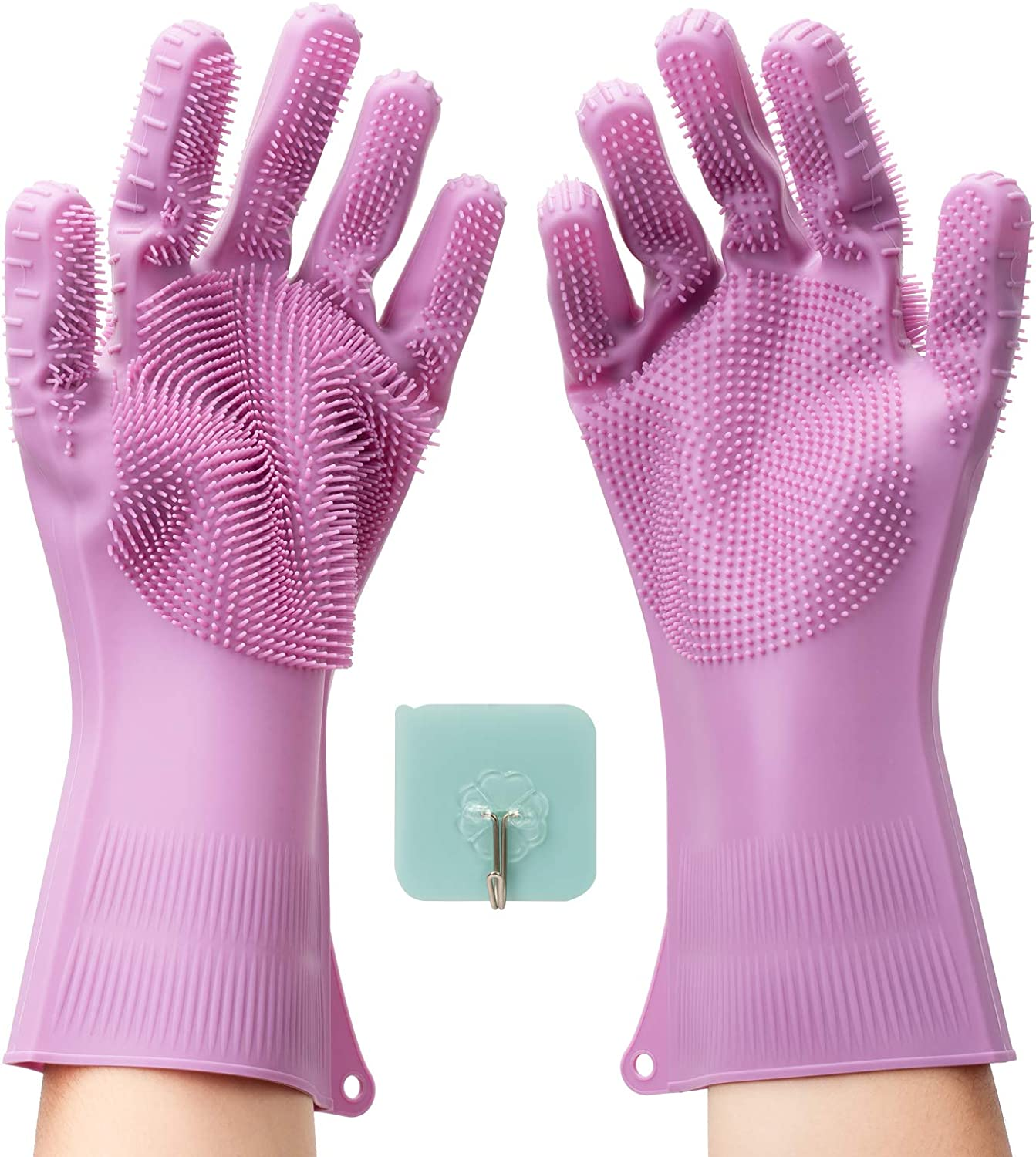Yiwanda 2 Faced Brushes Dishwashing Gloves All items free shipping Silicone Max 73% OFF Waterproof R