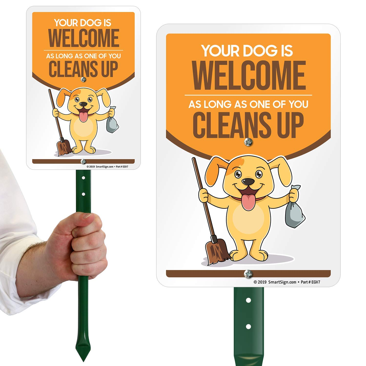 2021 model SmartSign Funny Dog Poop Sign for Great interest L Your Welcome is As Yard