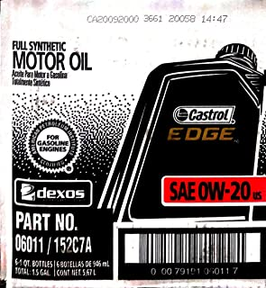 6x Castrol Edge 0w20 Made in USA