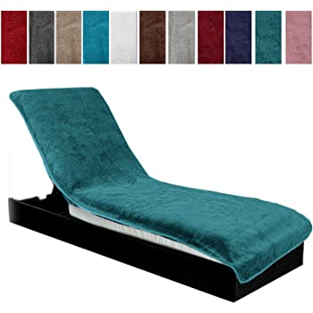 x33 Housses de chaises de Patio Housses de Meubles de Jardin 80 H W x35.5 // 205x88X82 cm Brown+Red chengsan Housse de Chaise Longue Longue de 20,3 cm de Long L