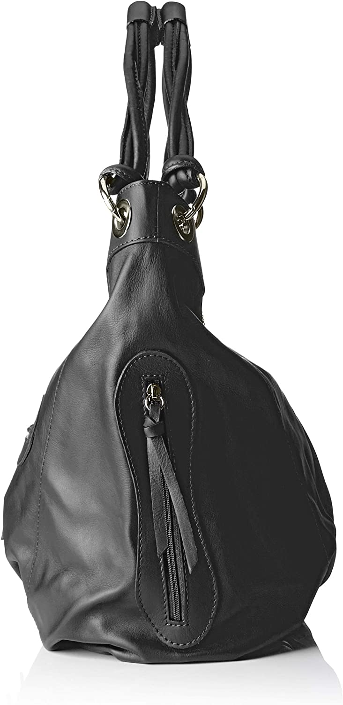 Chicca Borse Cbc3320tar, Sac à l'épaule Femme, 16x34x42 centimeters (W x H x L) Noir (Nero)