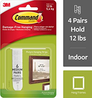 Command Picture Hanging Strips, Indoor Use, Holds 12 lbs (17204ES)