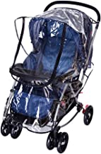 FakeFace Baby Travel Universal Transparent Clear Pushchair Stroller Buggy Pram Waterproof Windproof Rain Cover Canopy Wind Weather Shield for Protector
