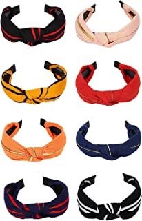 YouBella Hair Jewellery Plastic and Fabric Multi-Colour Combo of 8 Hair Bands Head Bands for Girls and Women