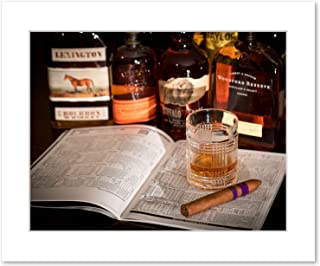 Bourbon Whiskey and Horse Racing Wall Art, 8x10 Matted Photographic Print