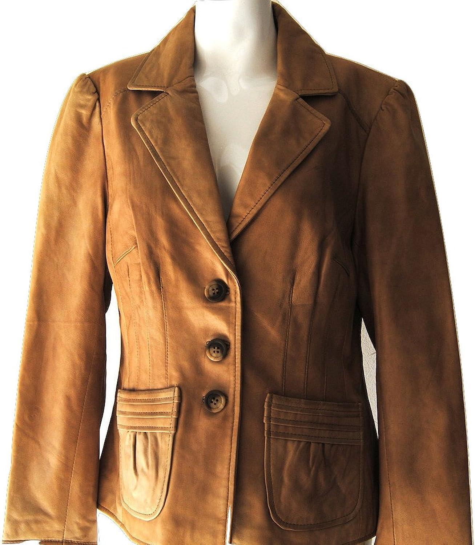 Fadcloset Iman Womens Leather Coat