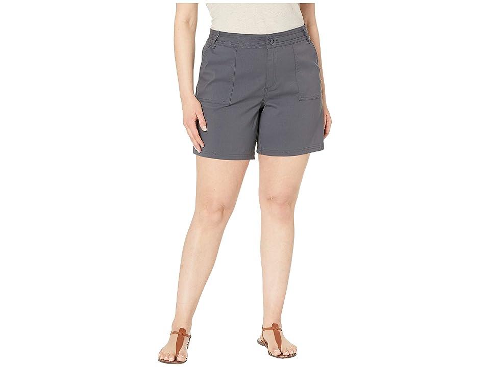 Prana Plus Size Olivia Shorts (Coal) Women