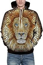 Men's Hoodies, FORUU Trendy Comfy Personality Casual Autumn Winter 3D Printing Fashion Long Sleeve Pullover Sweatshirt