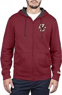 NCAA Mens Zip Up Hoodie Sweatshirt Team Applique Icon