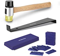 WORKPRO Laminate Wood Flooring Installation Kit with Reinforced Double-Faced Mallet, Heavy Duty Pull Bar, Tapping Block an...