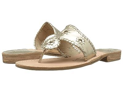 Jack Rogers Jacks Flat Sandal (Platinum) Women