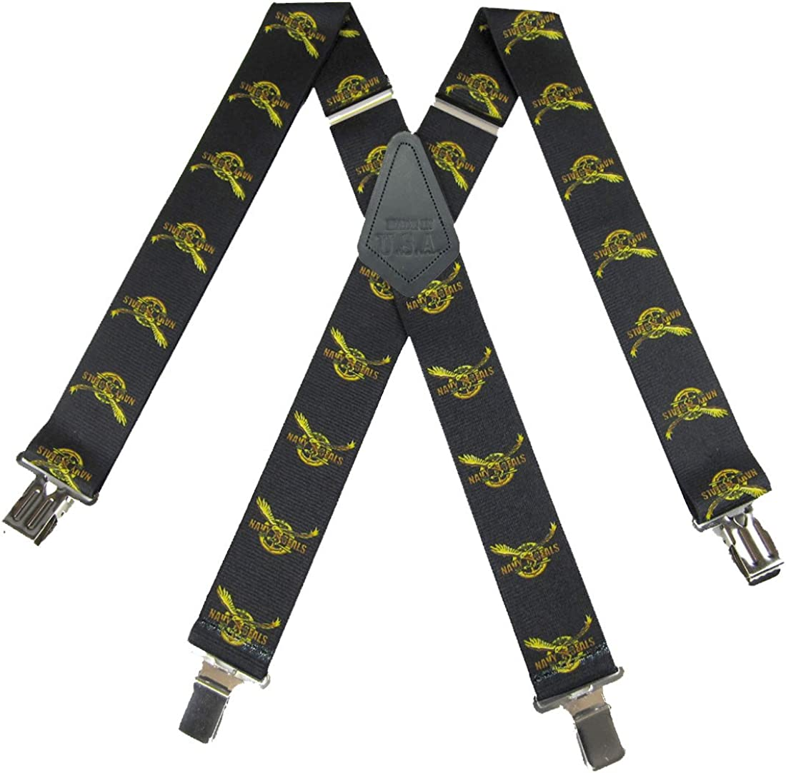 Mens Military Armed Forces Theme Clip Suspender Made in the USA