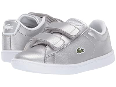 Lacoste Kids Carnaby Evo Strap 319 2 (Toddler/Little Kid) (Silver/White) Kid