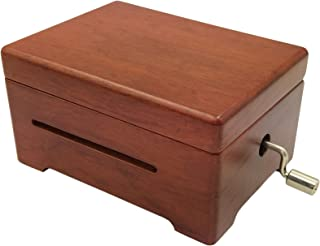 Wingostore 30 Notes Hand Kurbel Spieluhren Musik Box Make Yr Own Song with Tool Kit (Scented Rosewood+Copper Gear)