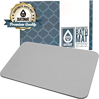 Diatomat Diatomite Bathroom Bath and Shower Mat, Non Slip Mat with Diatomaceous Earth Antibacterial Super Absorbent Fast Drying for Bathroom Shower Floor (Grey)