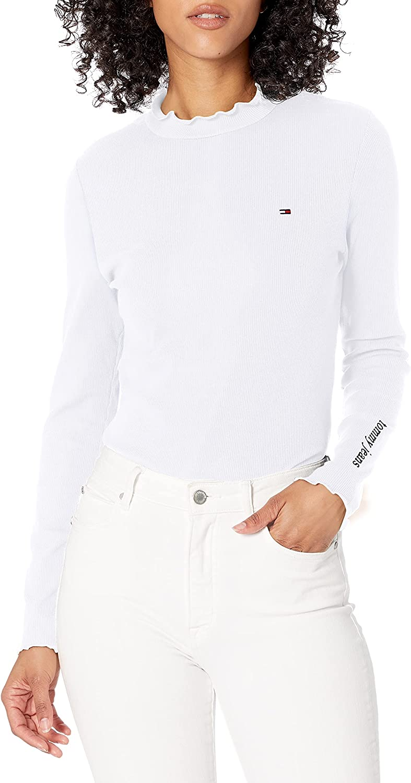 Tommy Hilfiger Women's Long Sleeve Ribbed Bodysuit