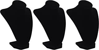 3-Pack - Darice 1999-084 3-Dimensional Velvet Jewelry Stand, 9-Inch, Black