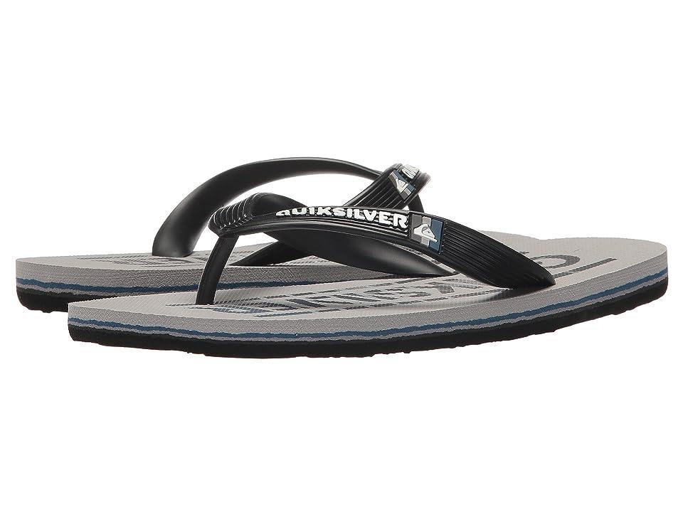 Quiksilver Kids Molokai Wordmark (Toddler/Little Kid/Big Kid) (Black/Grey/Grey) Boys Shoes