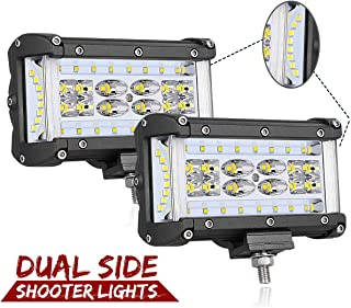 Dual Side Shooter LED Lights, Swatow Industries 2PCS 240W Osram 5 Inch LED Pod Lights Quad Row LED Fog Lights Off Road LED Cube Lights for Truck Tractor SUV ATV UTV Motorcycle Boat - 2 Years Warranty