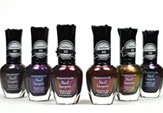 Beautiful 6 Pcs of Nail Polish Chromatic Look & Scented Gift Set + Free Earring (KNP17)
