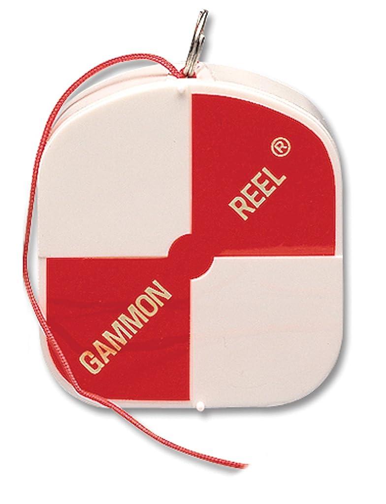 Gammon Reel 12' White & Orange Flo Red for Plumb Bob, surveying, retractable String 11-729