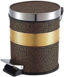 LONGren Step-On Lid Trash Can Wastebasket, Garbage Container Bin for Bathroom, Powder Room, Bedroom, Kitchen, Craft Room, ...