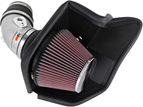K&N Cold Air Intake Kit with Washable Air Filter: 2013-2016 Hyundai Genesis Coupe, 3.8L V6, Polished Metal Finish with Red Oiled Filter, 69-5310TS