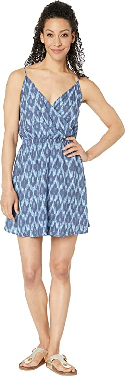 Blue Shadow Ikat Print