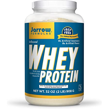 Jarrow Formulas Whey Protein, Unflavored - 908g Powder - Supports Muscle Development - Rich in BCAAs - Approx. 38 Servings
