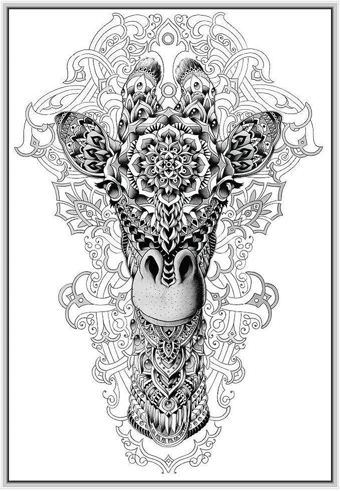 Giraffe Long Neck And Head Animal Wall Art Decal Sticker A66