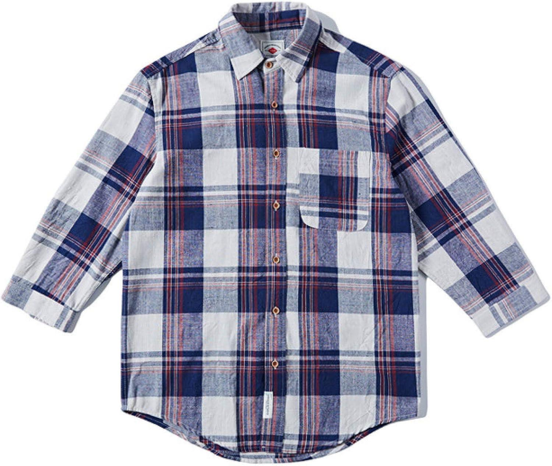 Camisa a Cuadros monocromáticos de algodón Puro Transpirable ...