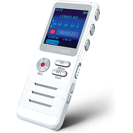 Meetings Digital Voice Recorder Voice Activated Recorder for Lectures Interviews EVIDA 8GB Audio Recorder Mini Portable Tape Dictaphone with Playback USB MP3